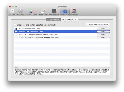 Xcode install command line tools