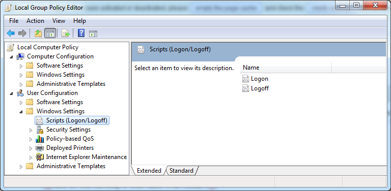 gpedit logon logoff