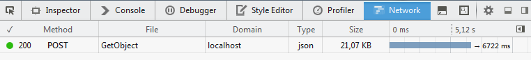Network tab Firefox