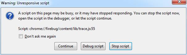 unresponsive javascript